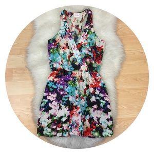 Parker Silk Floral Mini Dress Sz XS